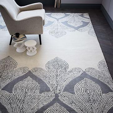 Fleur Wool Rug - Platinum #westelm-Living Room!!!