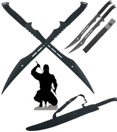 Double Ninja Swords with Sheath - http://zombies.futtoo.com/double-ninja-swords-with-sheath #zombies