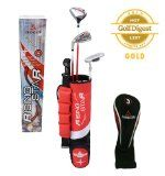 Paragon Rising Star Kids/Toddler Golf Clubs Set / Ages 3-5 Red Left-Hand - http://tonysgolf.com/2015/04/21/paragon-rising-star-kidstoddler-golf-clubs-set-ages-3-5-red-left-hand/