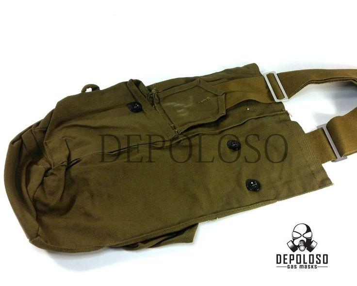 Soviet Russian gas mask carrying Bag Khaki Leg Pouch  | Collectibles, Militaria, Surplus | eBay!