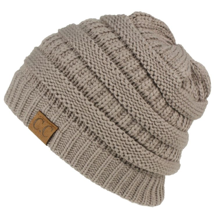 Unisex Winter Warm Chunky Ribbed Cable Knit Beanie Slouch Pull Back Ski Skully Skull Slouchy Ski Hat Cap. Wear as a straight short beanie skully or slide on and pull back and down to acheive the slouch look.