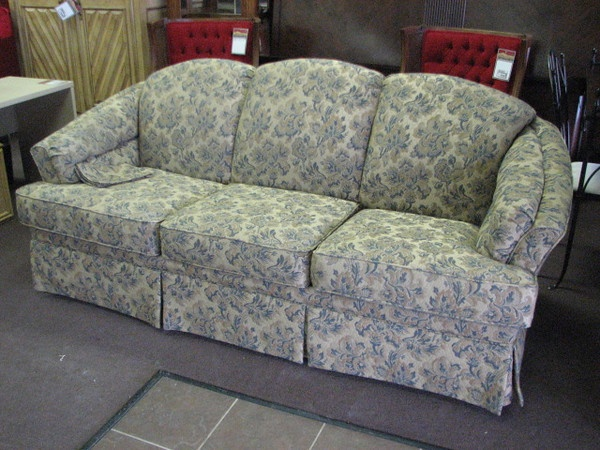 Upholstered Sleeper Sofa In A Beautiful Blue Floral Print