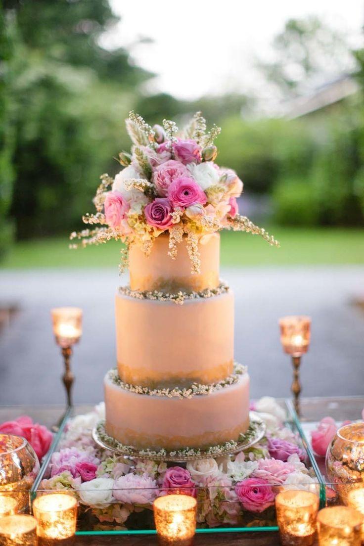 Photography: Greer Gattuso - http://www.stylemepretty.com/portfolio/greer-gattuso Cake: Nikki's Frosted Fantasies - http://www.stylemepretty.com/portfolio/frosted-fantasies-by-nikki   Read More on SMP: http://www.stylemepretty.com/2014/10/24/romantic-watercolor-wedding-inspiration-shoot/