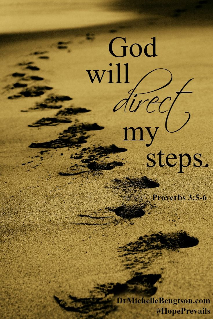 """Whenever you are tempted to think negative thoughts like """"I can't figure it out,"""" think about a promise from God instead. """"God will direct my steps"""". Proverbs 3:5-6. Overcome negativity using God's word. Christian Inspirational Quotes. Bible Verse. Scripture."""