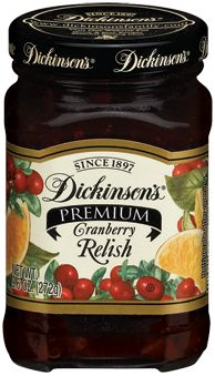 Recipe - Drive to Cracker Barrel Old Country Store - Eat - pick up a jar or two of Dickinson's Cranberry Relish - Wait for Thanksgiving - Open jar and sever eat some yummy goodness - save some for your turkey sandwich later     Relishes | Dickinsons Family