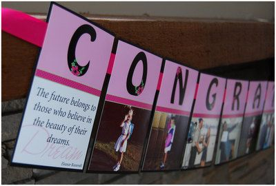 Congratulations Photo Banner Grad by CamilleCreatives on Etsy, $44.00