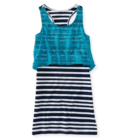 Kids' Lovely Lace Striped 2Fer Knit Dress  all this picture needs is some jeggings and denim wedges! ;0)  $21 at aeropostale.com