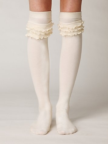 boot socks with ruffles.... Need these