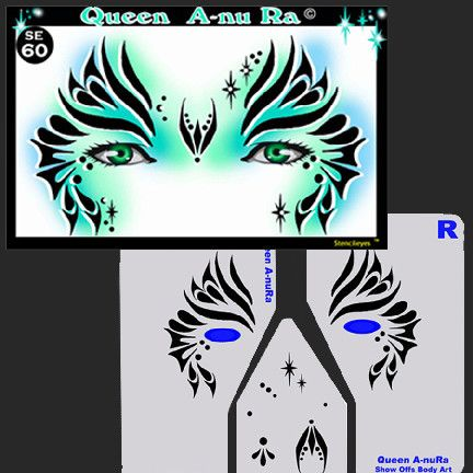 Product Info Produce professional face paint designs with ease using StencilEyes. Start earning big money right away without having to spend years in training. These .10 mil stencils work great with a
