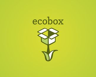 Double concept logo design inspiration: Ecobox