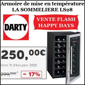 #missbonreduction; Vente flash Happy Days:  17% de réduction sur l'Armoire de mise en température LA SOMMELIERE LS28 chez Darty.http://www.miss-bon-reduction.fr//details-bon-reduction-Darty-i268-c1831279.html