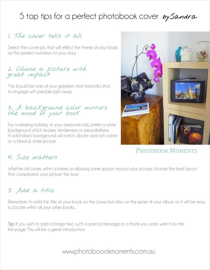 If you want a great cover for your photo book, just follow my 5 top tips for the perfect cover. www.photobookmoments.com.au