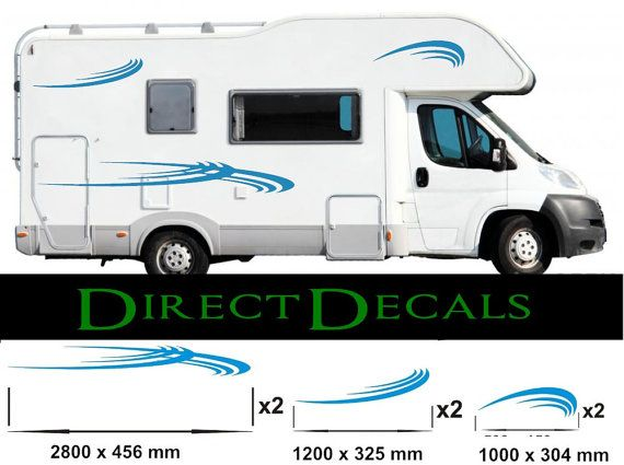 Motorhome decal kit vinyl graphic sticker decal by for Decals for rv mural