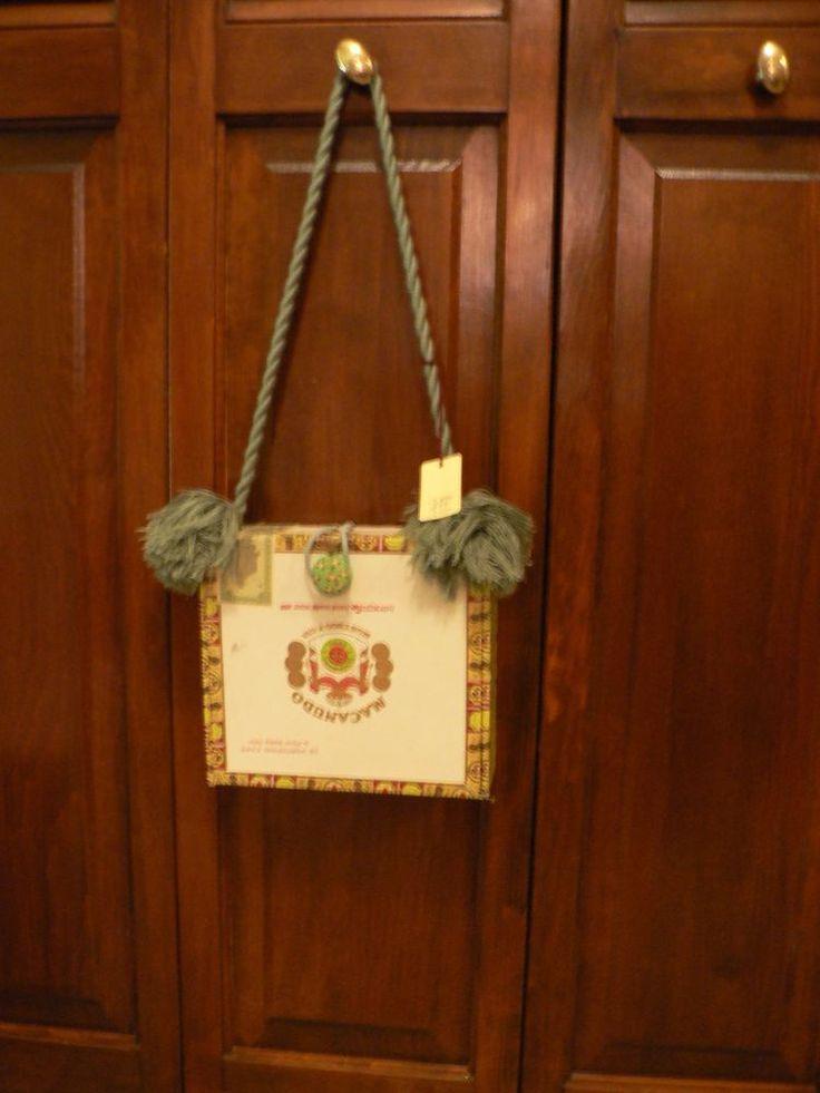 Cigar Box Purse Macanudo Green Tassels Whimsical #Handmade #Vintage