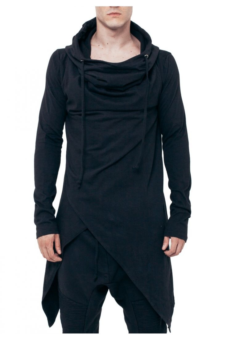 Asymmetrical Hooded Top