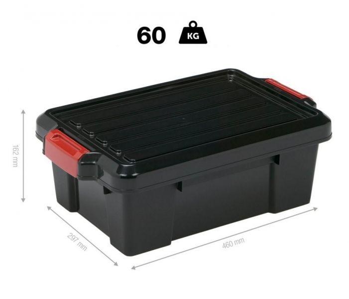 Cutie depozitare industriala PowerBox 13 litri
