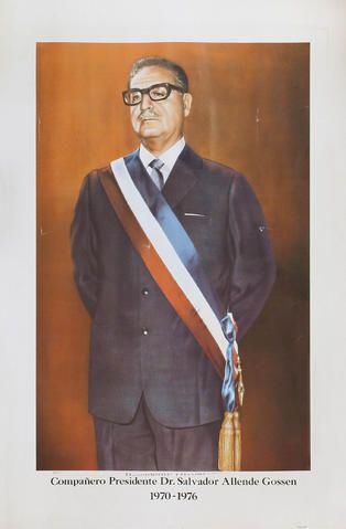 foto oficial Presidente de la Republica de Chile Salvador Allende 1970-1976