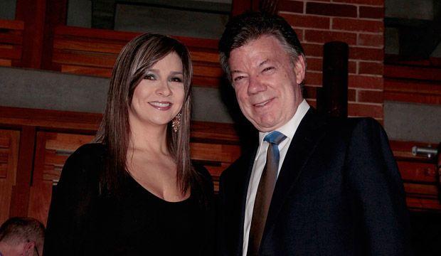 Vicky Dávila y Juan Manuel Santos.