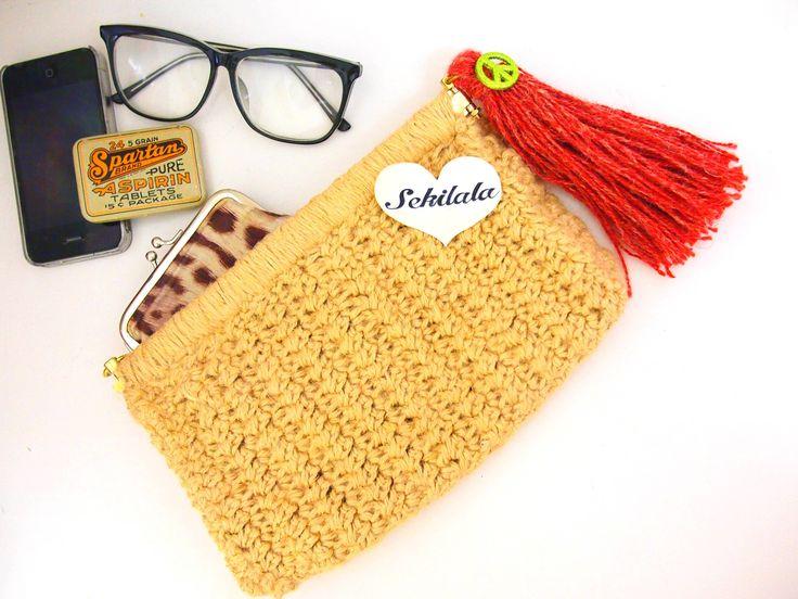 鍵編みクラッチバッグの作り方|編み物|編み物・手芸・ソーイング|アトリエ|手芸レシピ16,000件!みんなで作る手芸やハンドメイド作品、雑貨の作り方ポータル