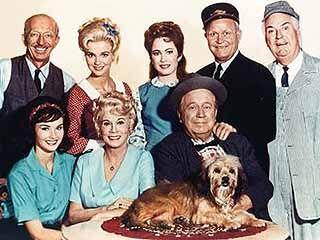 Petticoat Junction - Sam Drucker, Billie Jo, Betty Jo, Floyd Smoot, Charley Pratt, Bobbie Jo, Kate Bradley (owner of the Shady Rest Hotel) and Uncle Joe