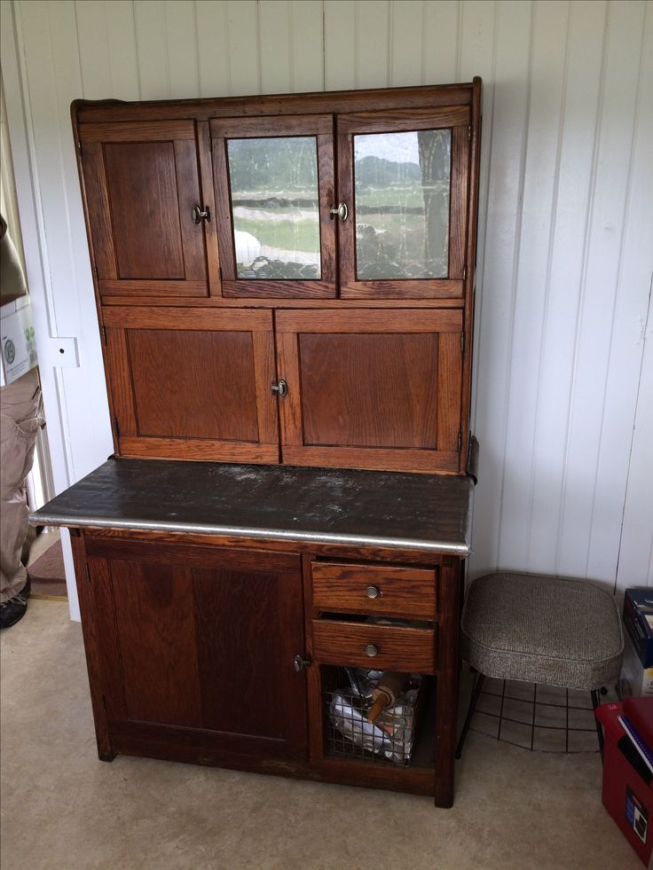 My 1910 Hoosier cupboard for sale on in my shop and on Facebook