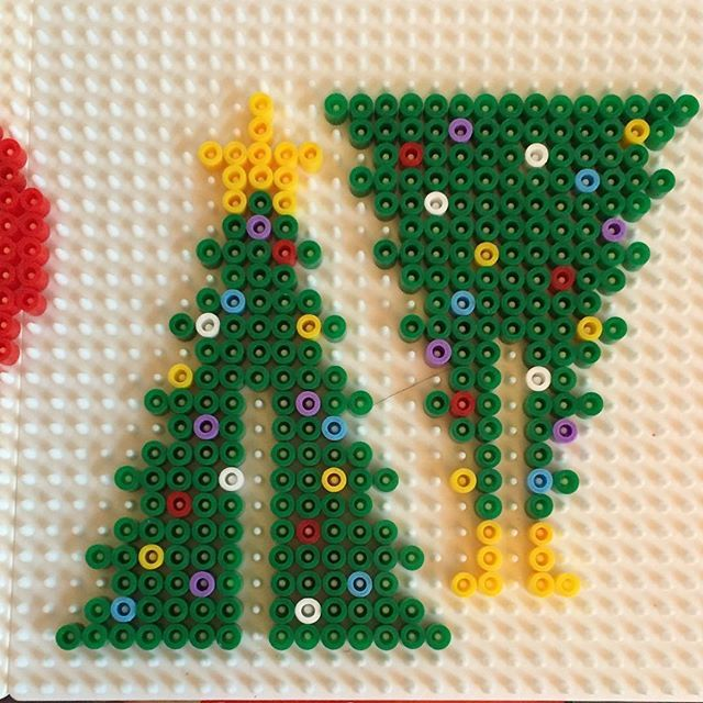 Christmas tree hama beads by  jritaalm                                                                                                                                                                                 More
