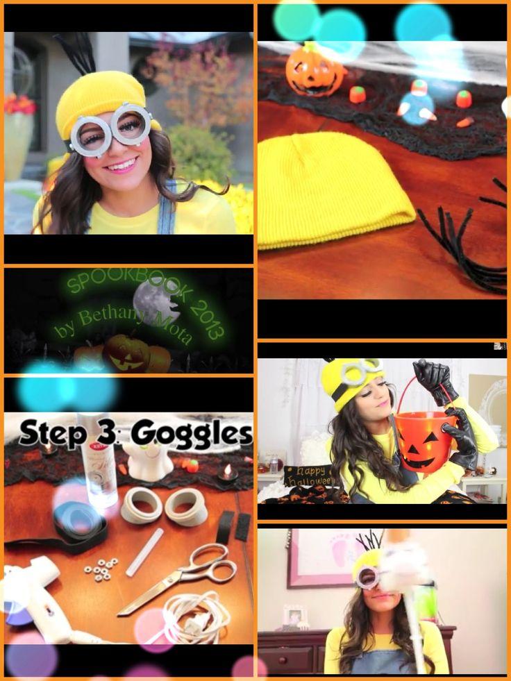 DIY minion costume video by Bethany Mota!!!!!!!! #spookbook2013 #spookbook #despicableme