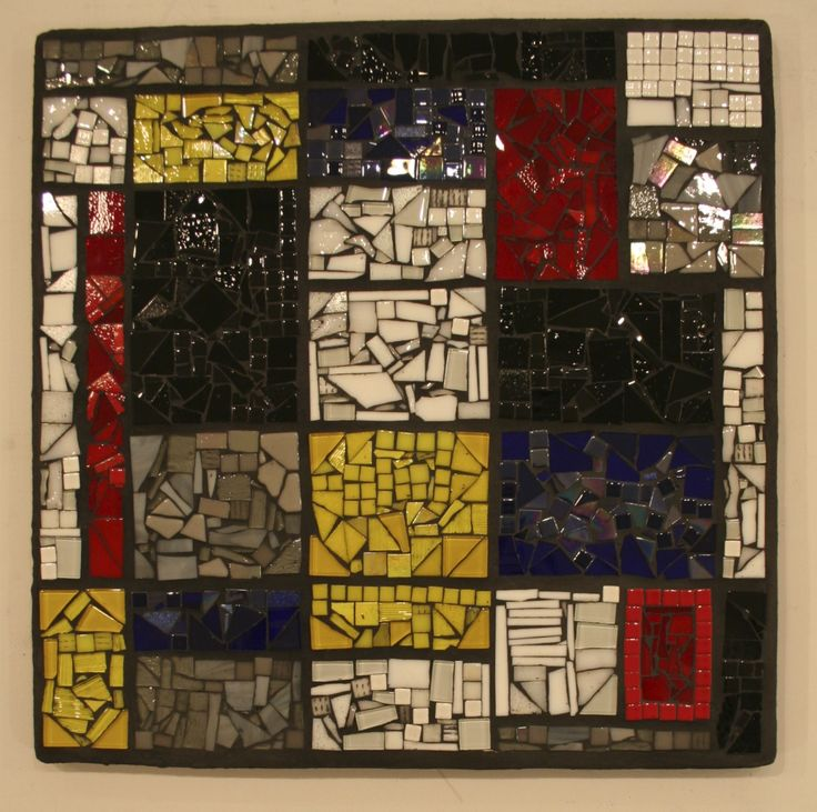 "18""x18"" Mondrian auction project by Newport Heights Elementary 2013 #auctionprojects #seattlemosaicarts #mosaics"