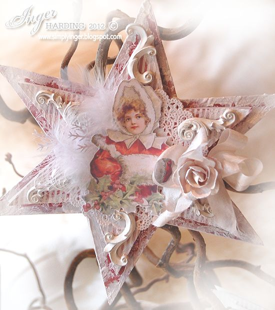 SHABBY CHIC & VICTORIAN CHRISTMAS IDEAS | Inger Harding: Shabby Chic Christmas Stars