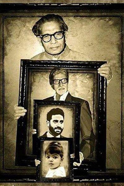 Abhishek Bachchan shares precious picture showing 4 generations of Bachchan clan #abhishekbachchan #amitabhbachchan