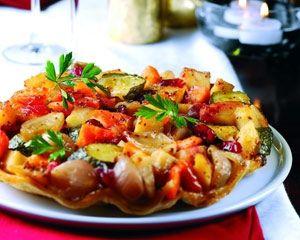 Root vegetable tarte tatin