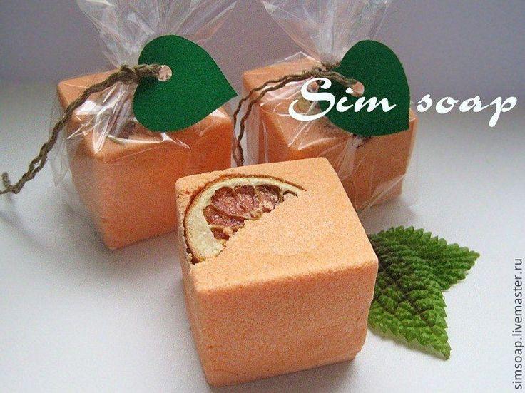 """Купить """"Фанта"""" - бомбочка для ванной - гейзер для ванны, гейзер, бомбочки для ванны, фантазия, оранжевый, цитрус"""