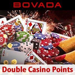 Now through the end of New Year's Day, you will earn twice the comp points by playing at Bovada Casino -- that means 2x the cash back!