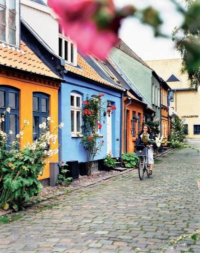 Aarhus old town, Denmark. We walked on a street just like this.