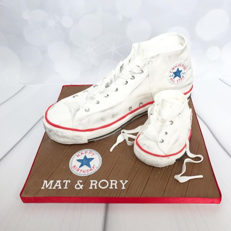 Mini me converse cake by Claire Lawrence
