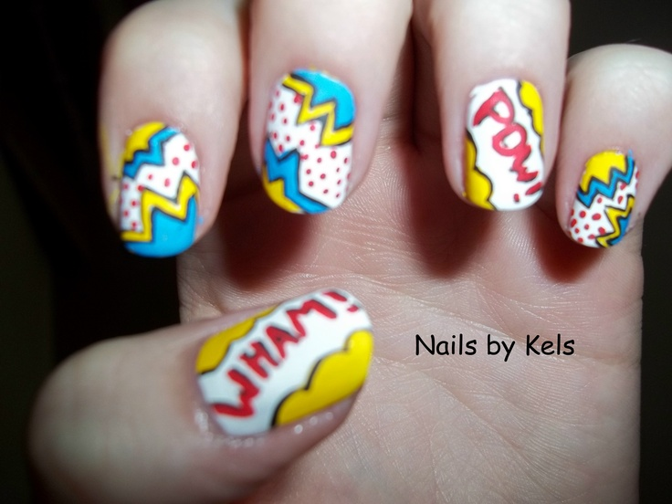 41 best my nail art images on pinterest nail arts nail art tips sooo i was going to see iron man 3 and i decided to do comic prinsesfo Gallery