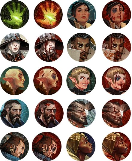Dragon Age Inquisition character Icons