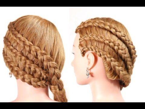 Прически для длинных и средних волос. Обратные французские косы