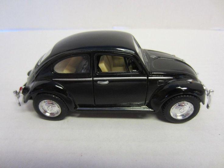 1967 Volkswagen Classical Beetle Die Cast Car Black 1:32 Kintoy #Kintoy #Volkswagen