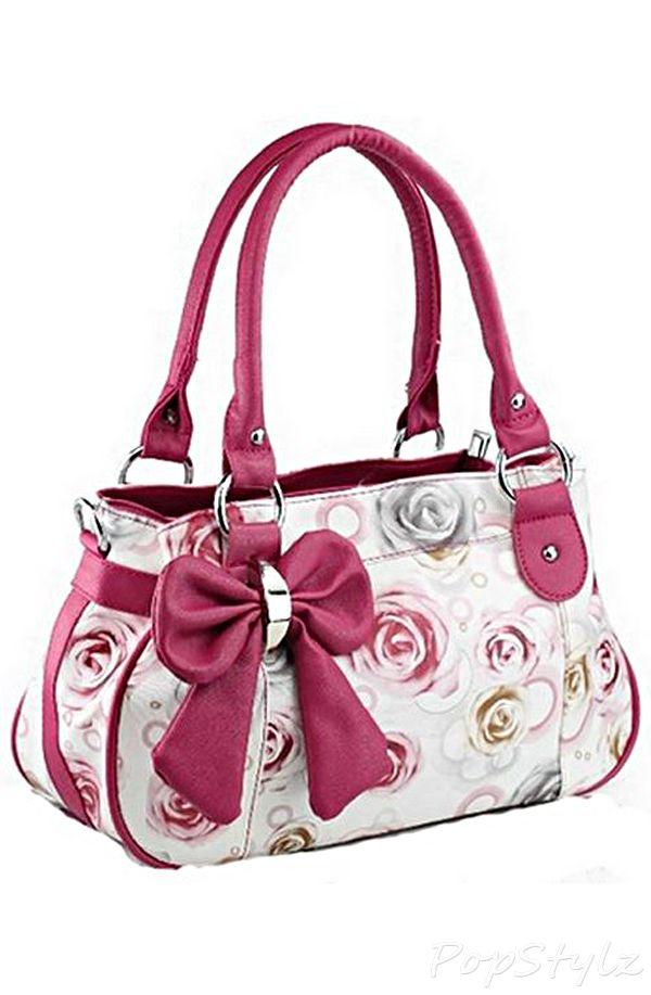 Buenocn Floral Bow Handbag