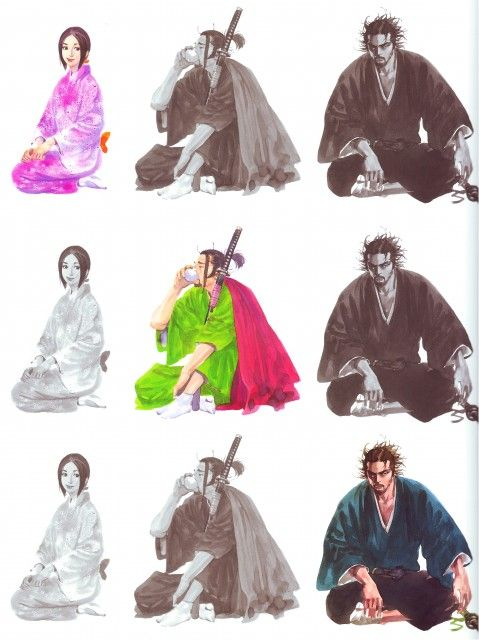Takehiko Inoue, Vagabond, Art of Vagabond: Water, Matahachi Hon'iden, Otsu, Musashi