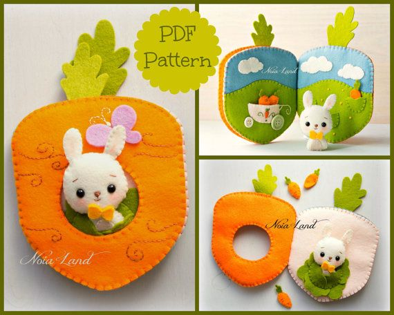 Carrot book. Bunny orchard activity book | Etsy