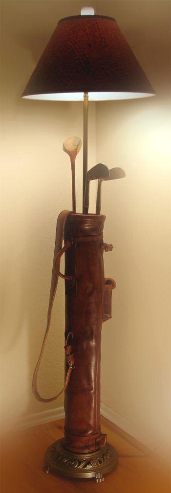 A Golf Bag Floor Lamp - Quite Unique