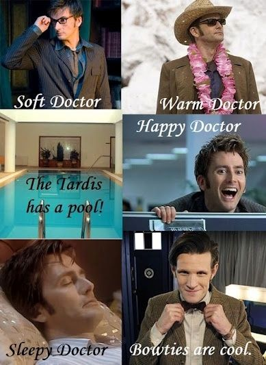 Doctor Who meets Soft Kitty! I like how it's all Tennant at first then it goes to Smith at the end xD :O