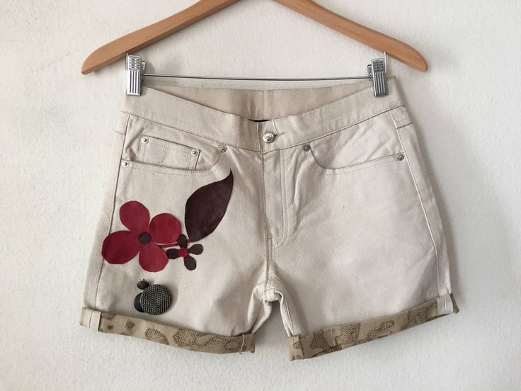 Real leather shorts short shorts made from leather and cotton vintage style original Diesel shorts women's beige shorts size-medium (26 EU). by VladVintage19 on Etsy https://www.etsy.com/ca/listing/530102603/real-leather-shorts-short-shorts-made