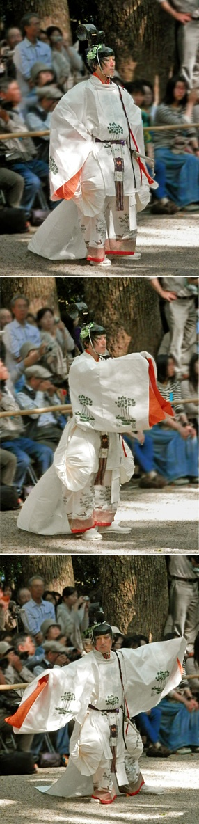 Act of God to give a dance to God. Festival at of an Mikage shrine. (Kyoto Japan). costume of the Heian Era.