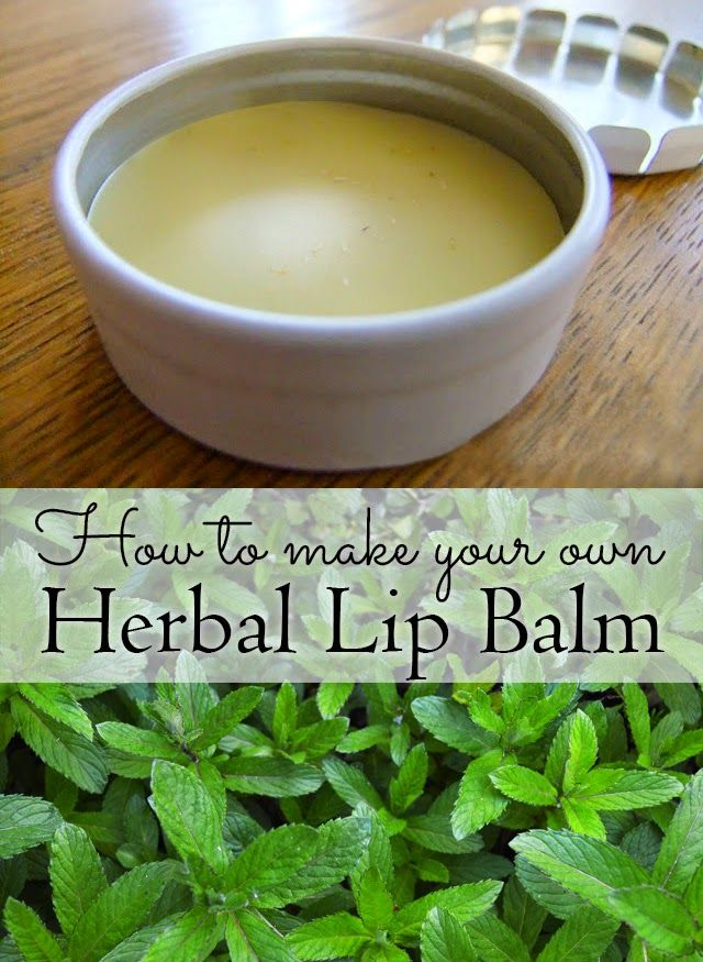 How to make your own Herbal Lip Balm with herbs and flowers from tea bags or the garden #beauty