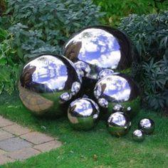 The Homestead Survival: Homemade Decorative Concrete Garden Balls DIY Project