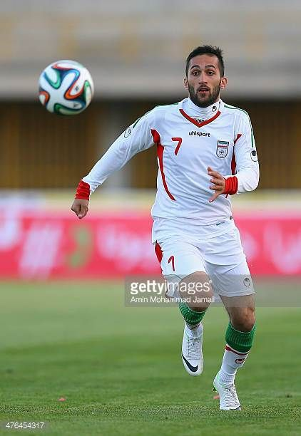 Payam Sadeghian of Iran in action during the AFC Asian Cup Qualifier between Iran and Kuwait on March 3 2014 in Tehran Iran