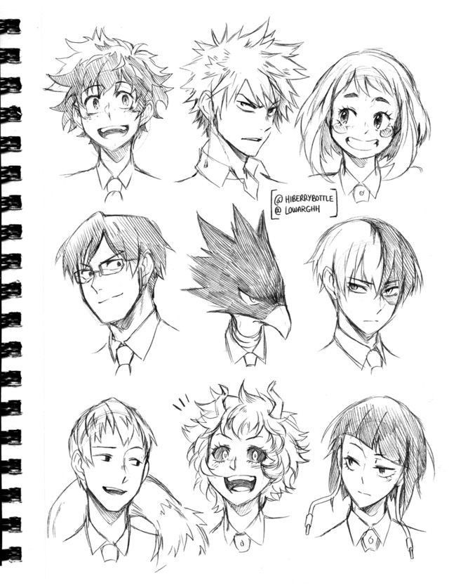 Some Characters From My Hero Academia Anime Sketch Anime Drawings Sketches